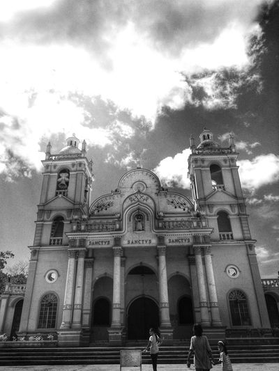 Old Church Taking Photos Bogo City Church Black And White Bnw Bnwphotography EyeEm Bnw