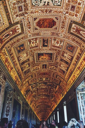 The endless art of Catholicism Italy The Vatican Vatican Museum Ceiling Art History Hallway Corridor Endlessness Italian History History Tourism Tourist Attraction  Tourist Destination Catholic Church Catholicism Catholic