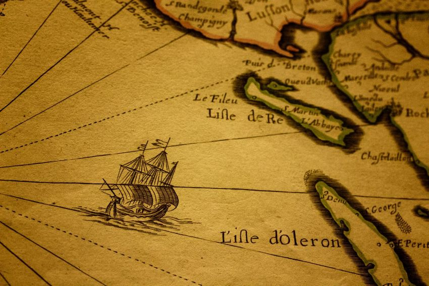 Map Treasure Chart Close-up Global Communications Human Body Part Indoors  Marine Marine Map Old-fashioned Paper Parchemin People Treasure Hunting Treasure Island Treasure Map
