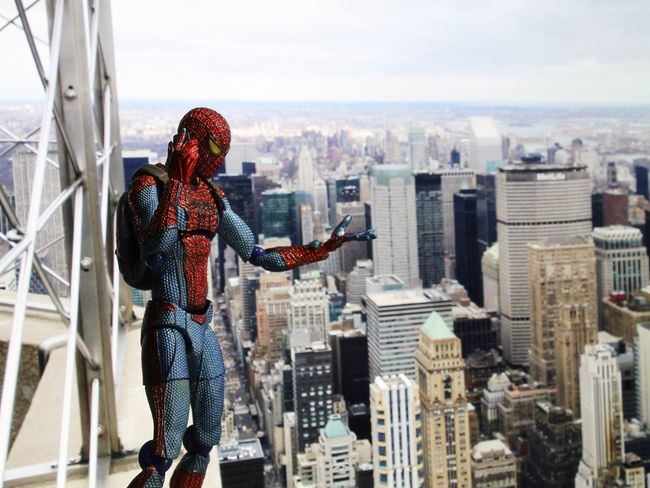 """Hey MJ, I got tickets to the new Batman vs Superman: Dawn of Justice movie tonight. Great, I'll pick you up at 7."" Spiderman Marvel Amazingspiderman Empirestatebuilding Manhattan Figmaspiderman Figma 6inchfigure Batmanvsuperman Toycommunity Toyboners Toydiscovery Toyplanet Ohiotoykick Toyphotography Toyslagram Toystagram Actionfigurephotography Toyartistry Toyartistry_elite Marvelspiderman"