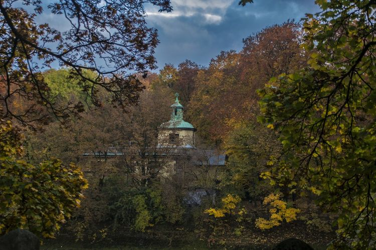 Autumn Beauty In Nature Germany Landscape Munich Nature No People Pavilion Travel Destinations