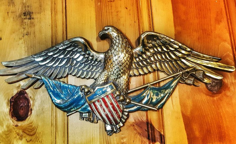 Stunning Eagle On The Wall Fine Art Americana Art Eagle Statue Interior Design Cabin Life Indoors  Home Is Where The Art Is Eyeemphotography EyeEm ForTheLoveOfPhotography From My Point Of View Eye4photography  Perspective Crests American Eagle Eagles Wall Art Hanging On The Wall