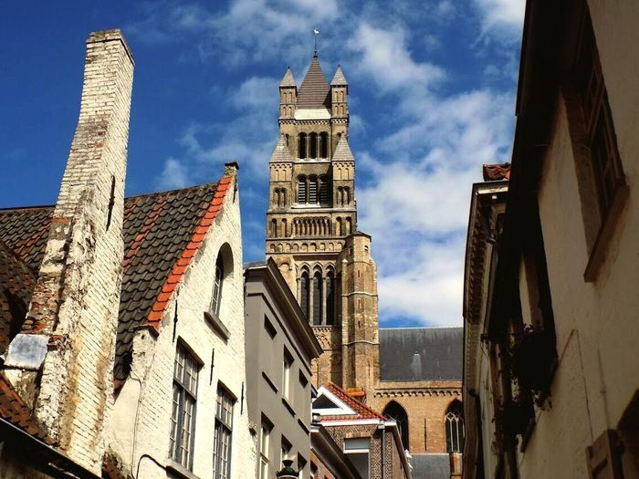 Architecture Building Exterior Built Structure Low Angle View Sky Day No People Cloud - Sky History Travel Destinations Sunlight Outdoors City Brugge, Belgium Edendessart