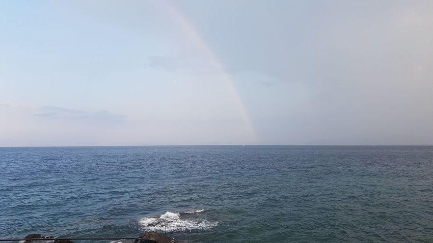 Samsung Galaxy S7 Beauty In Nature Nature Photography Seascape Sea And Sky Sea Mittelmeer Adriatic Coast Landscape Urlaub Kroatien Meer Regenbogen Refraction Sea Beach Wave Rainbow Nautical Vessel Beauty Sky Horizon Over Water Coast Sky Only Seascape Double Rainbow