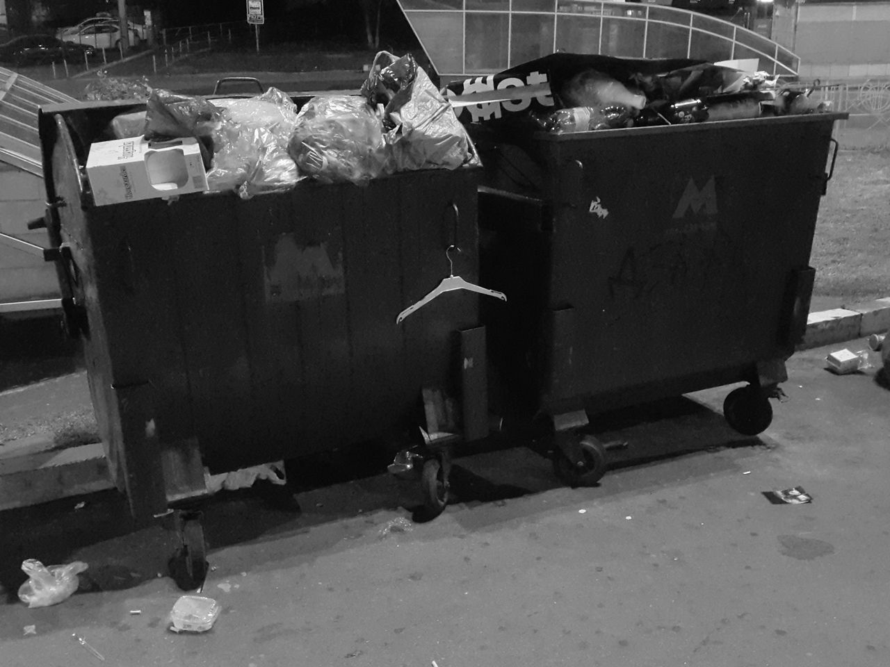 garbage bin, food, real people, city, people, food and drink, men, garbage, street, day, garbage can, container, full length, outdoors, child, occupation, musical instrument, transportation, side view, standing