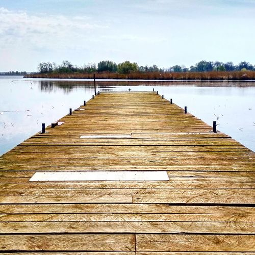 Peaceful Wood Board Horizon Clouds Blue Nature Isle Island Trees Forest Calm Peace Jamno Mielno Bird Water Lake Wood - Material Pier Sky