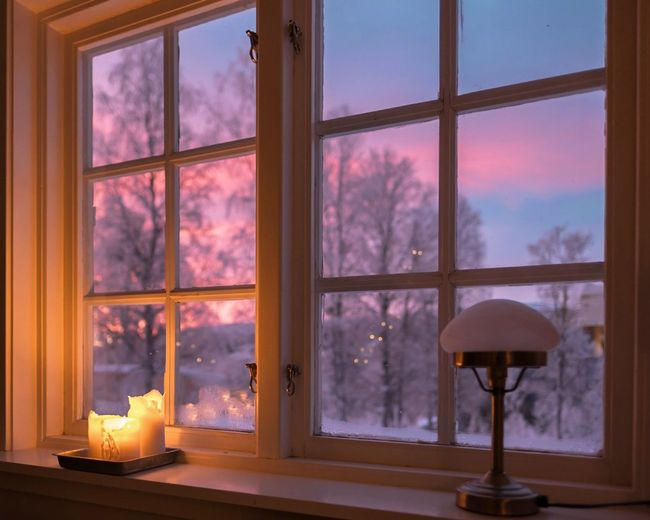 winter window frosty morning sunrise view Snow Winter Tree Space Luxury Pastel Colored Looking Through Window Home Interior Window Living Room Sliding Door Foggy Tea Light Holiday Villa Bonfire Villa Window Frame Wood Burning Stove Ceiling Fan Penthouse Chalet Fire - Natural Phenomenon Fire Pit Fireplace Flame