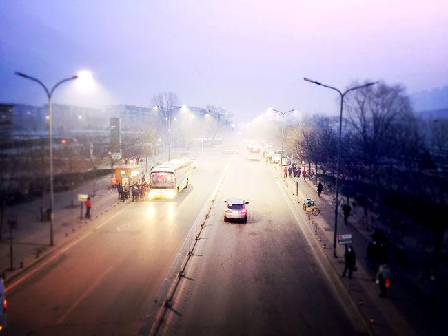 北京雾霾的早晨