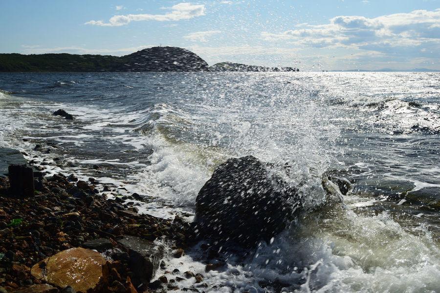 Splash. Sea Island Nikon Seascape Nature Coastline Russia Море пейзаж волны остров Stone Autumn Landscape Splash Wave ВОЛНА всплеск