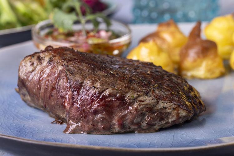 steak on a