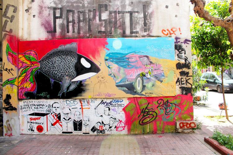 Art Athens Athens, Greece Blackfish Creativity Day Design Fish Graffiti Greece Multi Colored No People Street Art Street Art/Graffiti Streetart Streetphotography Urban Urbanphotography