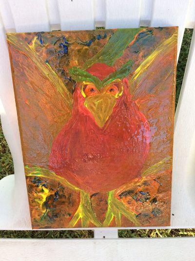 My artwork 🖌🎨🖌 Art Bird Animal Outside Painting Canvas Creative Feeling Creative Outside