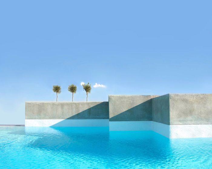 New Bauhaus in Athens Minimal Minimalism Architecture Swimming Pool Nature Sky Capture Tomorrow