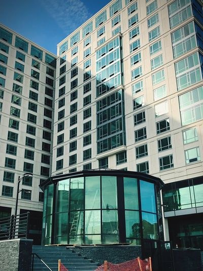 High rise Architecture Windows Low Angle View