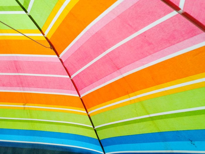 Full frame shot of multi colored umbrella