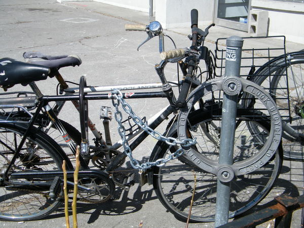 Secure ! Bicycle Built Structure City Lock Post Lock Up Metal Mode Of Transportation No People Outdoors Parking Stationary Wheel