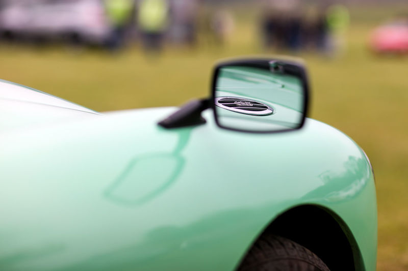 VINTAGE CAR MG  Mirror Reflection Transportation Car Day Green Color Land Vehicle Mode Of Transportation Motor Vehicle No People Outdoors Petrol Cap Selective Focus Side-view Mirror Vehicle Vintage Vintage Car