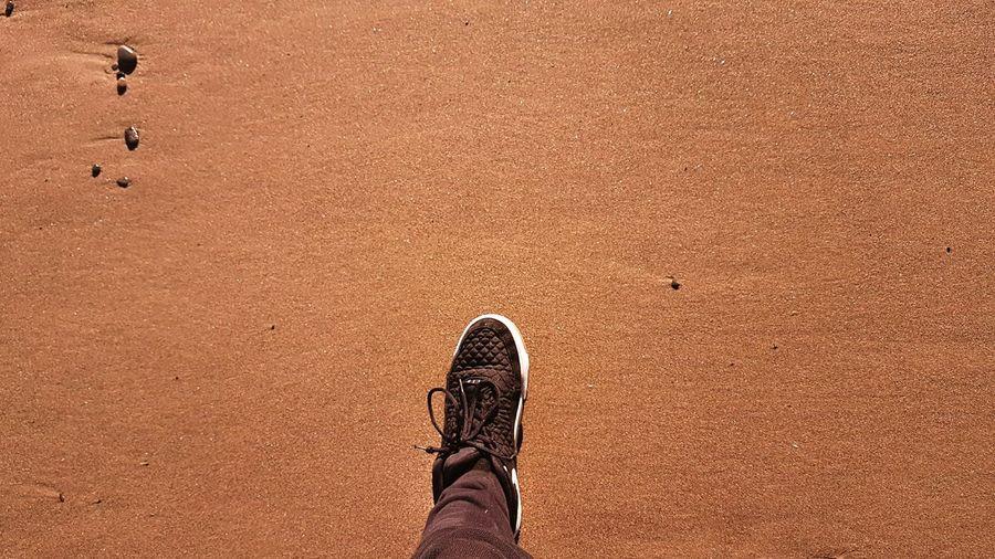 A step foward Beach Shoe Sand Abstract EyeEmNewHere The Week On EyeEm