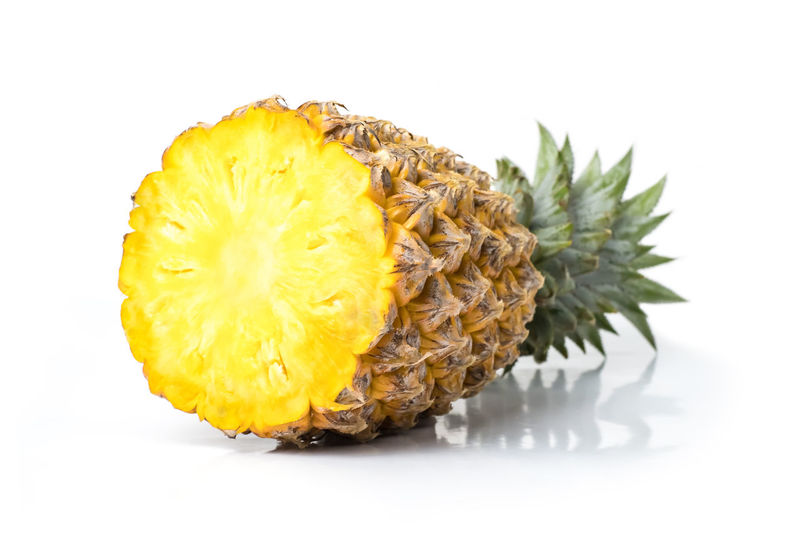 pineapple fresh isolated on white background and clipping path. The name of science : Ananas comosus. Pineapple Isolated Backgrounds Food And Drink White Background Healthy Eating Fruit Fresh Freshness Tropical Ripe Green Pattern Closeup Natural Object Sweet Organic Diet Raw Creative Nature Yellow Exotic Health Lifestyles Single Slices Tasty Nutrition Snack Vitamin Juicy Concept Fruits Vegetables Bright Ananas Comosus Clipping Path Studio Shot Food Close-up Indoors  Tropical Fruit No People Cut Out SLICE