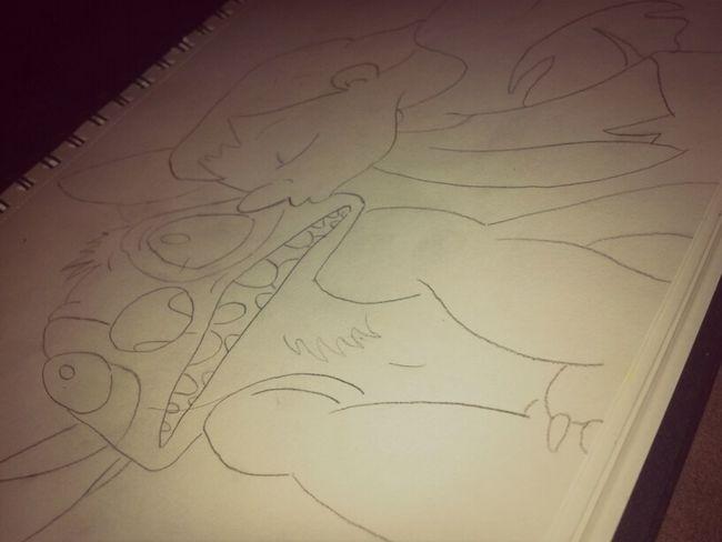 rough sketch of Lilo & Stitch(: