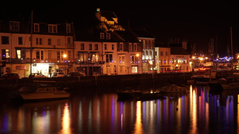 Ilfracombe Harbour, UK Night Reflection Illuminated Travel City Travel Destinations No People Outdoors Sky Architecture Water Night Scene Devon Beauty In Nature Harbour Night Photography Seascape Fisherman Yacht Harbor Fishing Boat Yachts