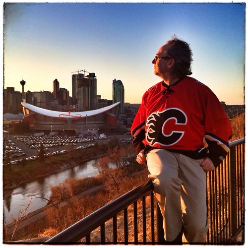 Sunday self-portrait Series 2 No 16 - My City, My Team. Photography Photo Of The Day Iphone 5 That's Me Self Portrait Calgary