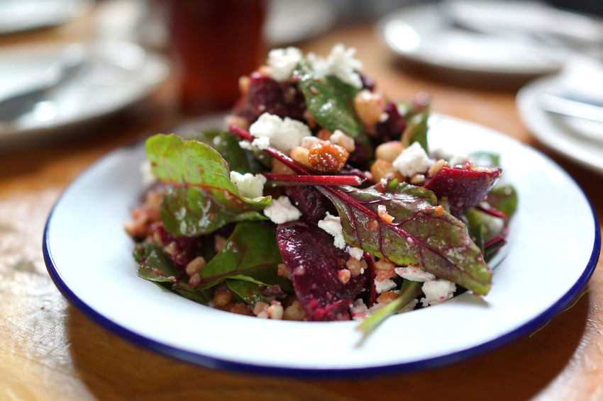 Greens and Vegetable Rocket Barley Beetroot Buffalo Mozarella Close-up Focus On Foreground Food Freshness Greek Food Healthy Eating Indoors  Meal No People Plate Ready-to-eat Salad Selective Focus Serving Size Still Life Table Temptation Vegetable Vegetarian Food Wellbeing
