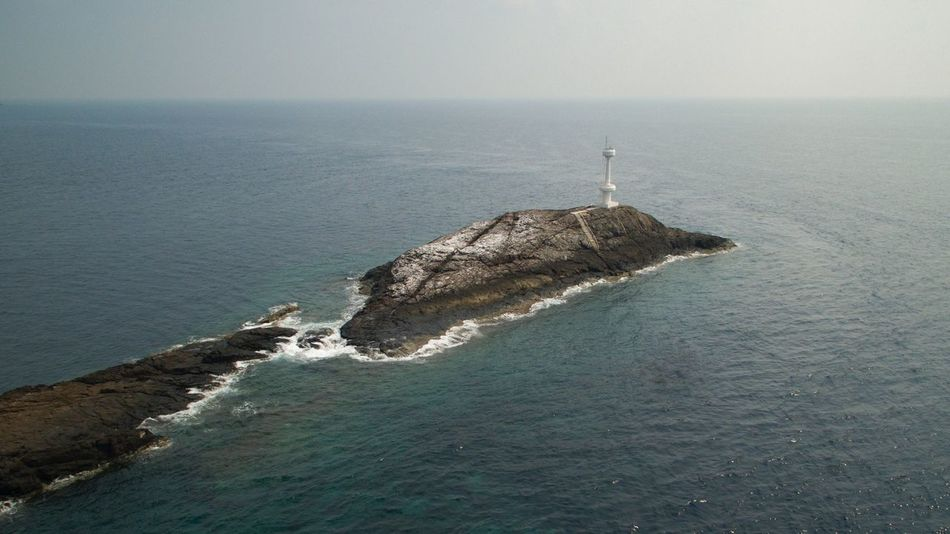 Diving site of Tenggol Island Diving Site Tenggol Island Tokong Timur Lighthouse Aerial Shot Aerial View Aerial Landscape Aerial Photography Sea Water Horizon Over Water Nature Beauty In Nature Tranquility Scenics Tranquil Scene High Angle View Day No People Outdoors Architecture Sky