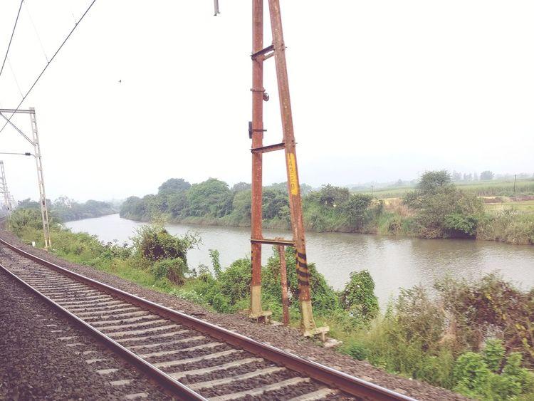 Train Railroad Track Journey Diwali Celebration Nature Outdoors