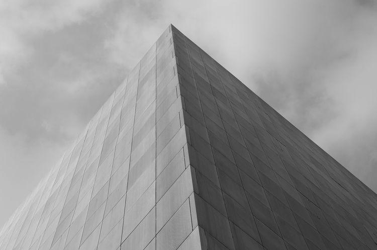 Sky Architecture Building Exterior Pyramid Shape Pyramid Black & White Black And White