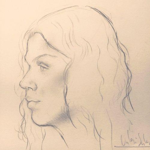 Apunt Draw Drawing Dibuix Grafit paper artistic art catalan_art alforja catalunyaexperience igerscatalunya igerscambrils igersreus tagstagram instagram instafeel instamood línia line portrait face girl longhair