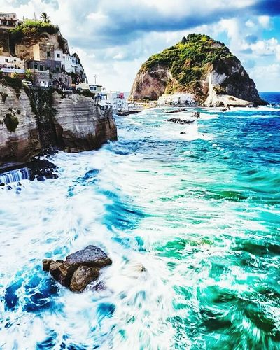 Ischia Napoli mare in Tempesta Napoli 💙💙💙 Hello World Cheese! Panoramic View Relaxing Hi! Panoramashot