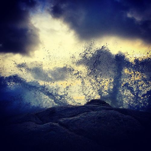 Christmas Day 2014 Cornwall Sea And Sky Between Dusk And Dawn Roughsea Seascape Waves Crashing Waves, Ocean, Nature Watching Waves EyeEm Nature Lover
