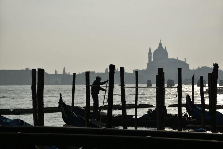 Boat Gondola Gondolas Gondoliere Tourism Tourism Destination Transportation Venice Venice, Italy Water