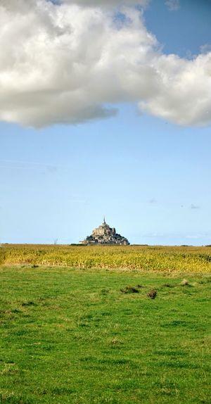 Green Color Field Landscape Cloud - Sky Bretagne Mont St. Michel