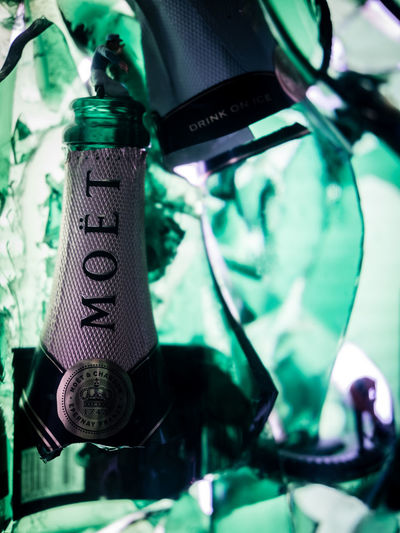 Broken Glass Champagne Man Moët&Chandon Working Man All Things Must Come To An End All Things Must Pass Broken Green Color Little Figure Luxury Moet