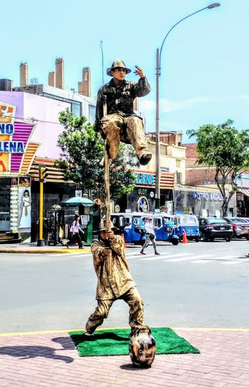 Art is culture.... One Man Only Only Men Adults Only Adult Arts Culture And Entertainment Outdoors Army Soldier Sky Stunt Camouflage Clothing Real People