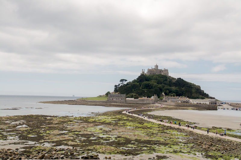 Architecture Beauty In Nature Building Exterior Built Structure Cloud - Sky Cornwall Day History Marazion Nature No People Outdoors Scenics Sea Sky St Michaels Mount Tranquil Scene Tranquility Travel Destinations Water