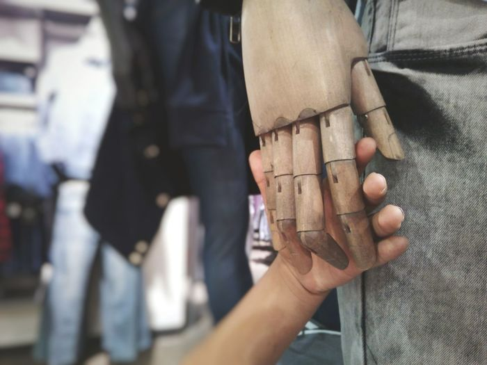 Artificial love. Human Hand Human Body Part People Close-up Manequin Hands Love Urban Lifestyle Taking Photos Body Part Abstract One Person Family TCPM Rethink Things Humanity Meets Technology
