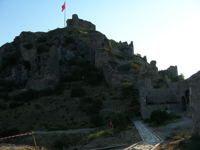 Amasya Amasya Castle Ruin Clear Sky Day Flag Low Angle View No People Outdoors Patriotism
