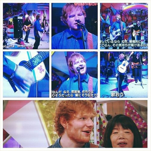 Edsheeran was on Japanese TV show スッキリ 🎤🎸 Multiply X Sing