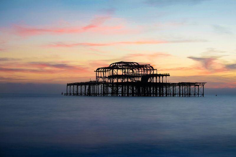 Pier Against Sky During Sunset
