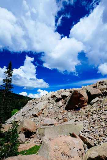 Moab  Sky And Clouds View Beauty In Nature Boulder Climbing Cloud - Sky Day Mountain Mountain Range Nature No People Outdoors Portrait Rock - Object Scenics Sky Lost In The Landscape