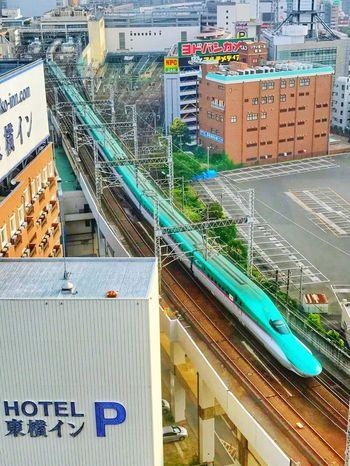 EyeEmNewHere City Travel Destinations Transportation Rail Transportation Train - Vehicle Railroad Station Shinkansen Day Railroad Track Japan Photography Japanese Traditional Japan