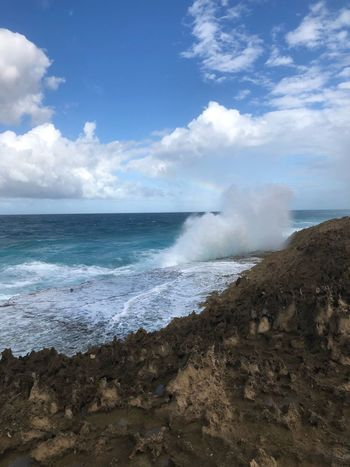 Break Puertoricotourism Puerto Rico Sea Sky Beauty In Nature Nature Water Motion Horizon Over Water Power In Nature Day Cloud - Sky Outdoors Force No People Beach Wave Scenics
