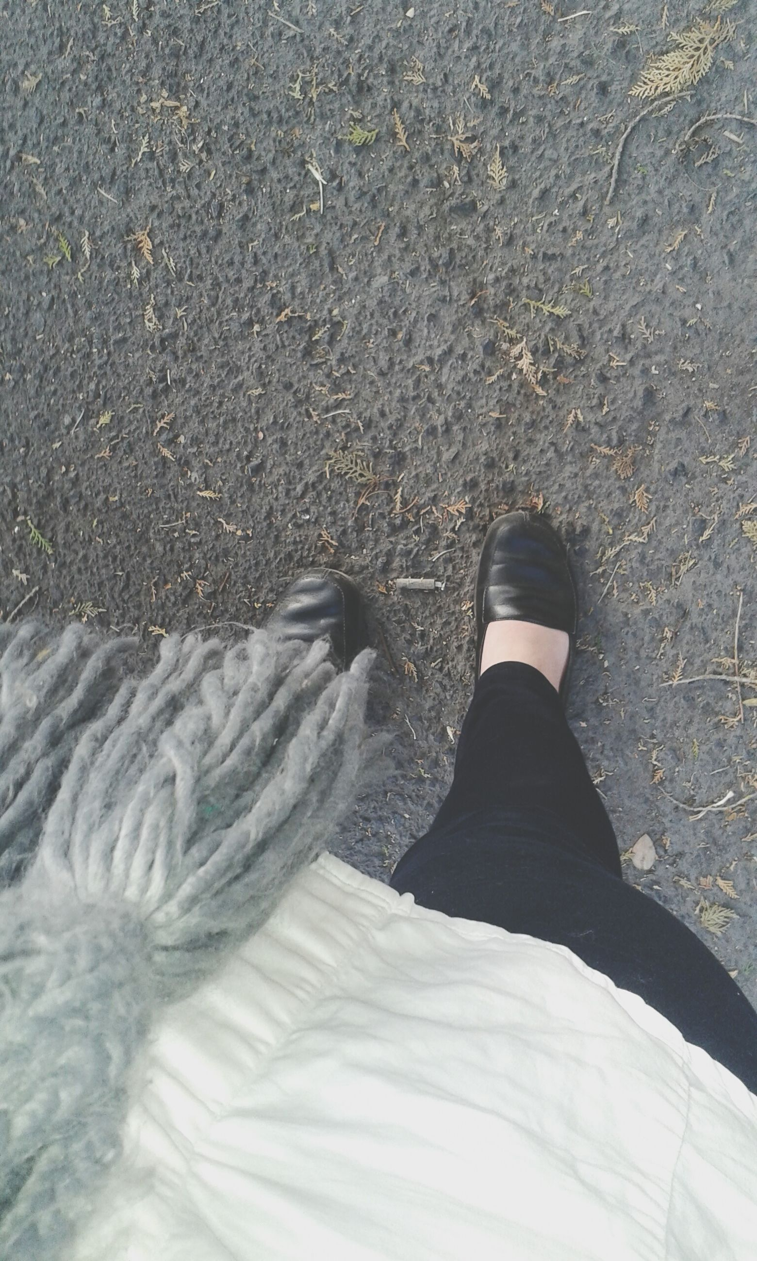 low section, person, lifestyles, shoe, personal perspective, high angle view, leisure activity, standing, unrecognizable person, men, footwear, human foot, jeans, outdoors, day, street, casual clothing