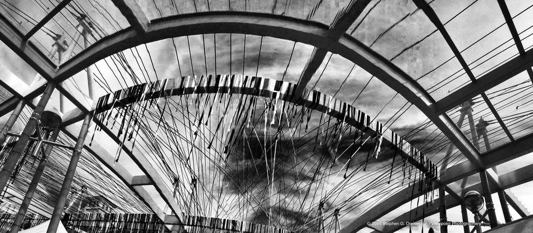 """Spring Crossing"" by Randy Walker on the Marshall Way Bridge at Canal Convergence in Scottsdale, AZ. Eyeem Phoenix Meetup2 Scottsdale Public Art"