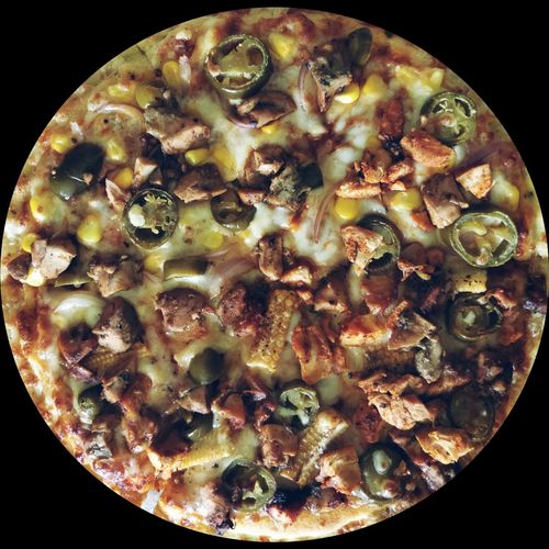 Pizza🍕 Black Background Close-up Food And Drink