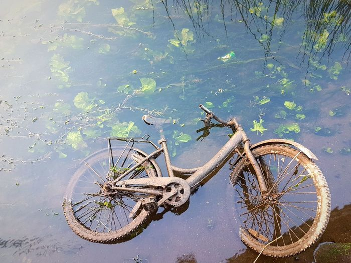 Bike Water Nautical Vessel Lake
