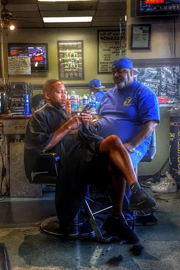 Chilling at the shop. Barbershop People People Photography Candid HDR Hdr_Collection Urban